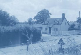 Old house reconstructed, Hampton on the Hill. | Warwickshire County Record Office reference PH212/25, page 6 no. 2. Part of a photographic survey of Warwickshire parishes conducted by the Women's Institute.