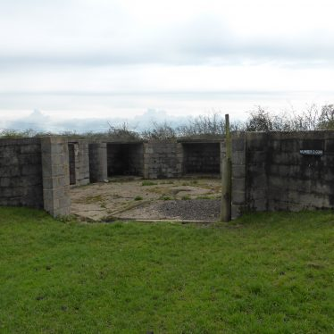 Gun emplacement, Goodrest Farm.   Image courtesy of Friends of the Anti-Aircraft Battery at Goodrest Farm (FAAB@GRF)
