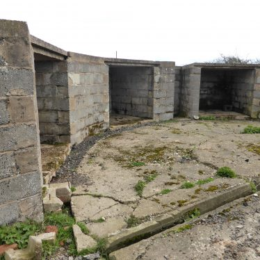 Gun emplacement, Goodrest Farm.   Image courtesy of the Friends of the Anti-Aircraft Battery at Goodrest Farm (FAAB@GRF)