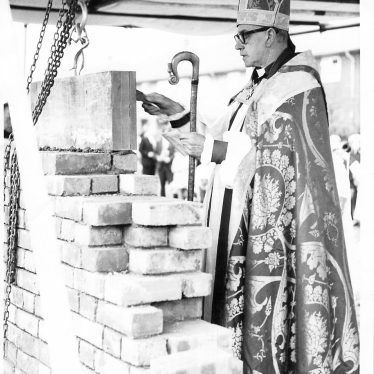 Consecration and laying of foundation stone, St Mary & St John Church, Nuneaton. 1967. | Image courtesy of St Mary & St John Church, supplied by Nuneaton Memories