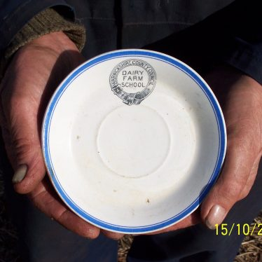 A 19th Century Saucer From a Dairy Farm School