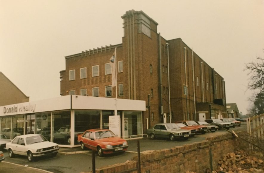 The Healey showroom in the early 1980s. | Warwickshire County Record Office reference PH1272/686