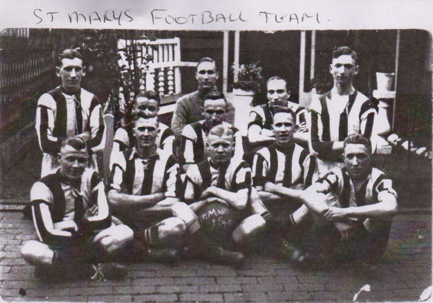 St Marys Football Team, Atherstone, 1937-38. | Image courtesy of David Blower