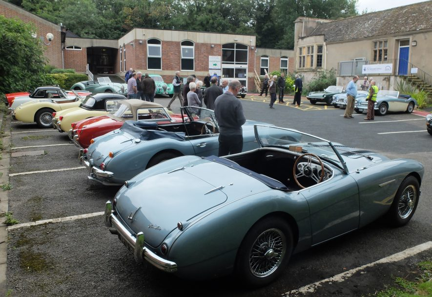 Gordon Barton's Healey (front left) at the Healey open Day hosted by the Warwickshire County Record Office, 2016. | Image courtesy of Heritage & Culture Warwickshire