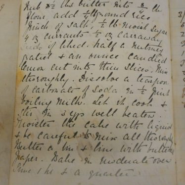 Luncheon cake recipe. | Warwickshire County Record Office reference CR4694/63