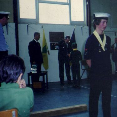 Awards at the 2nd Warwick Sea Scout HQ. | Image courtesy of the 2nd Warwick Sea Scout Group's archives.