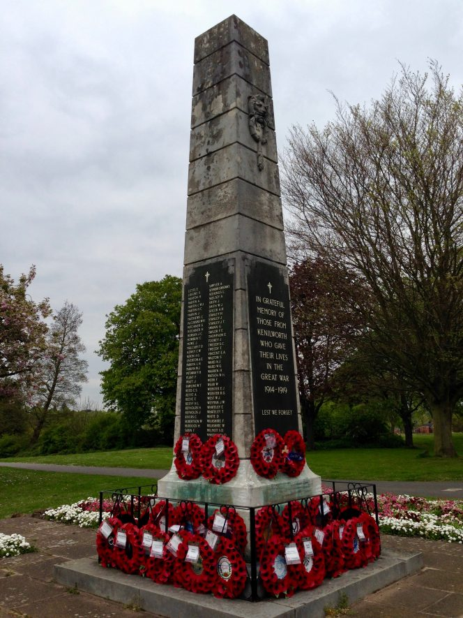 Kenilworth War Memorial, Abbey End, Kenilworth. 2017. | Photograph taken by Susan Tall