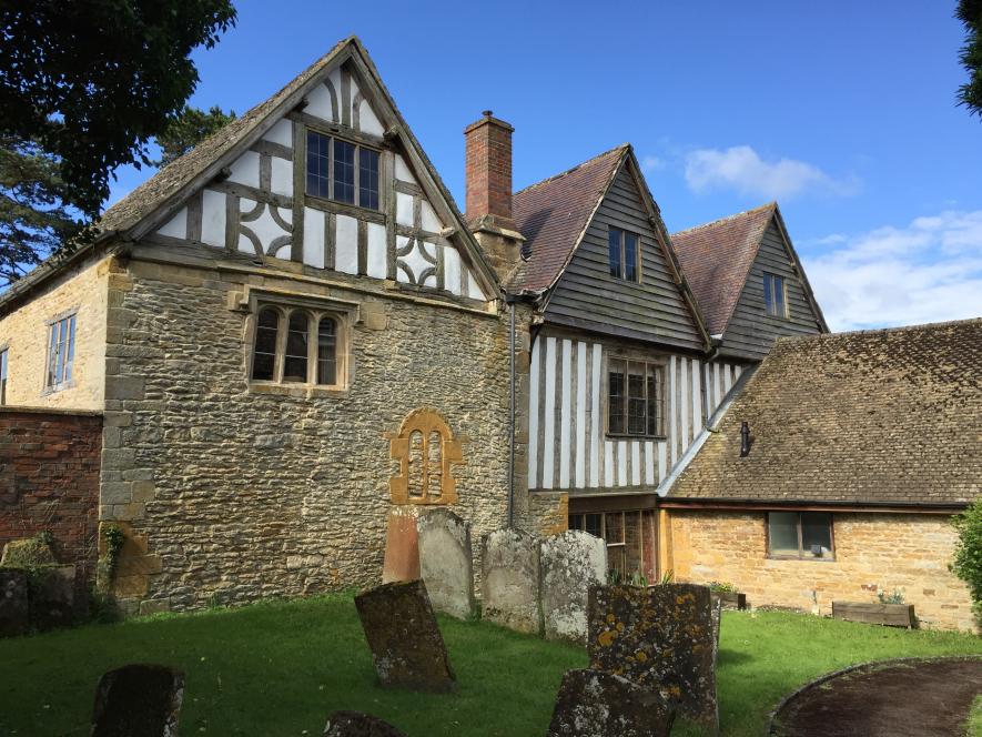 Burmington Manor House from the Churchyard, 2017. | Image courtesy of Chris Rice.