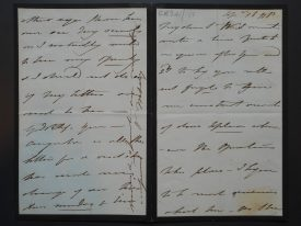 The letter written by Princess Mary to Waller, c.1830s. | Warwickshire County Record Office, reference CR341/152