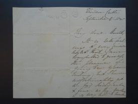 The letter written by Queen Victoria to Princess Mary, 4th September 1838. | Warwickshire County Record Office reference CR341/48