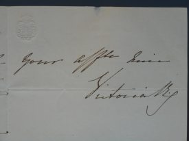 Queen Victoria's signature and royal cypher, 4th September 1838. | Warwickshire County Record Office, reference CR341/48