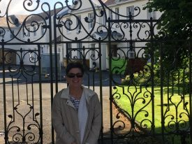 The author outside Wellesbourne House on a visit to England, 2017. | Image courtesy of Karen M. Schillings