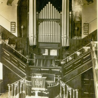 The Bedworth Methodist Church interior, n.d. | Image supplied by Kath Allton