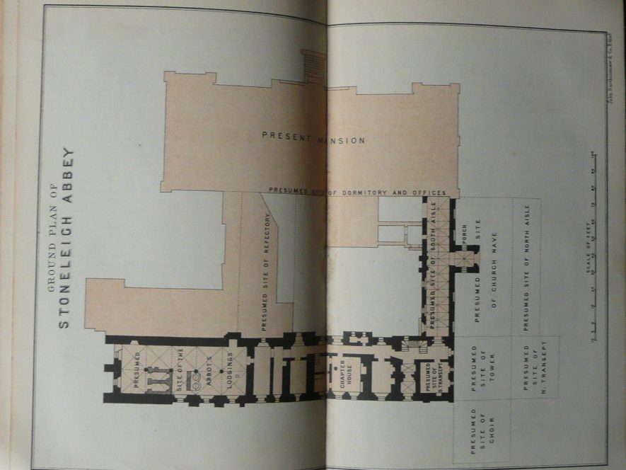 Plan of Stoneleigh Abbey, c. 1893. | Shakespeares Land. Leamington. Frank Glover, B.A.