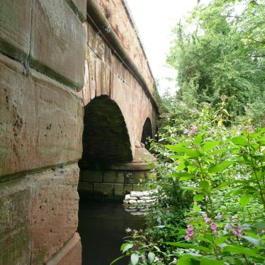View of upstream face of Cloud Bridge, Stoneleigh from Bubbenhall side. | Image courtesy of William Arnold
