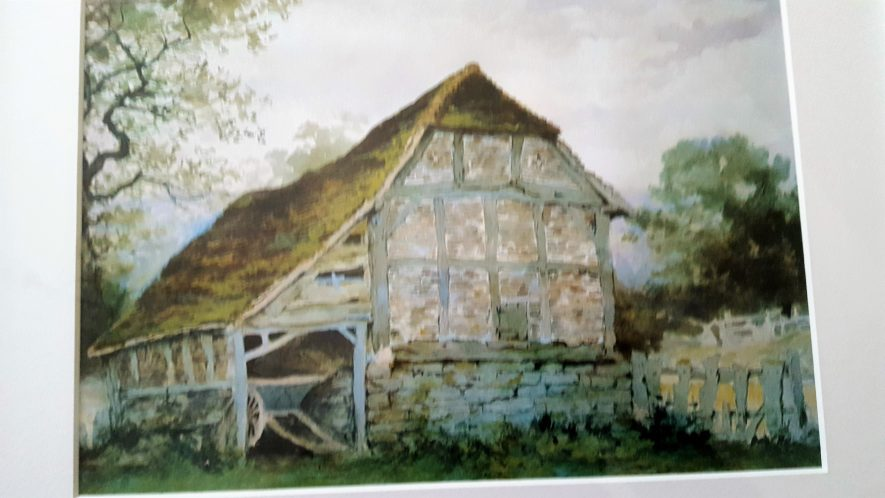 2 Old Barn, near Rowington Hall, Warwickshire. | Image courtesy of Eizabeth Turley. A print sent to her mother.