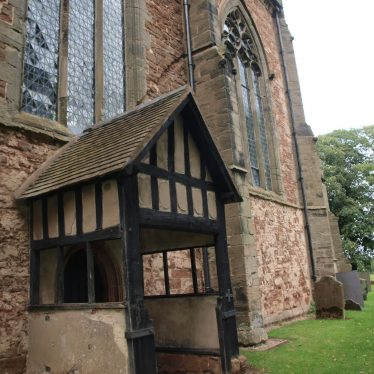 The South Door and Porch at Astley Church are believed to be 17th century, built when the church was altered in 1607. | Image courtesy of Caroline Irwin
