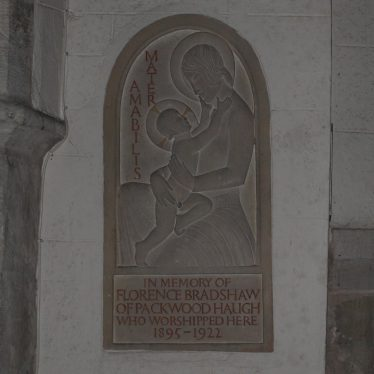 The Florence Bradshaw Memorial tablet by Eric Gill. | Image courtesy of Caroline Irwin