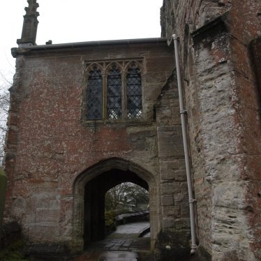 The West Porch was built around 1250. The room above the passageway known as the West Chantry | Image courtesy of Caroline Irwin