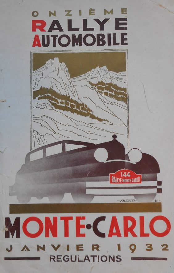 Front page of brochure for onzieme rally automobile Monte-Carlo regulations, January 1932. | Warwickshire County Record Office reference CR4804/4/2