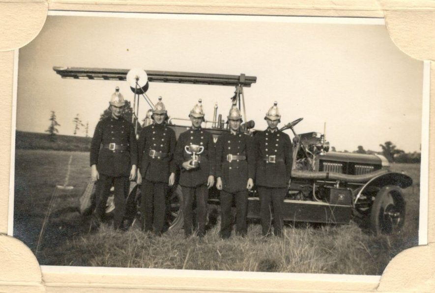 Bluemels fire brigade. My Granddad Harry Orton was a member of their own fire brigade. n.d.   Image courtesy of Yvonne Halford