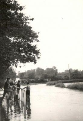 Floods in Wolston, 1970s.