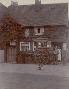 The old post office and bakery, Wolston. c.1900. | Image courtesy of Yvonne Halford