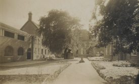 Our Lady's Convent, Daventry Street; view from the garden showing convent and courtyard. [1930s]. | Warwickshire County Record Office reference PH352/165/10