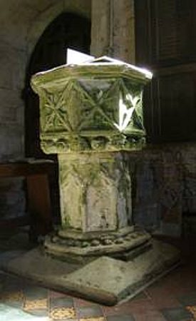 The font at St Martin, Barcheston. | Image © Hilary L Turner