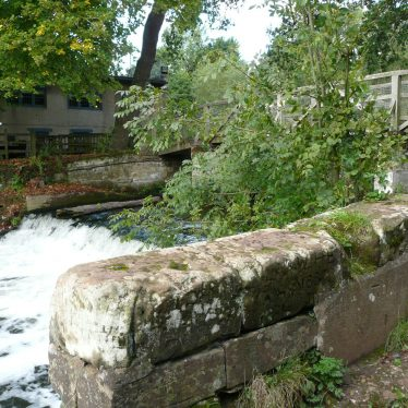 The weir at the Saxon Mill, 2017. | Image courtesy of William Arnold