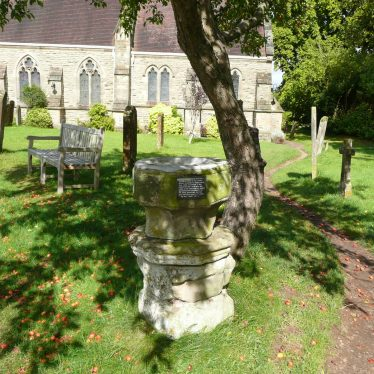 Font converted to bird bath at Church of St James, Old Milverton. 2017. | Image courtesy of William Arnold