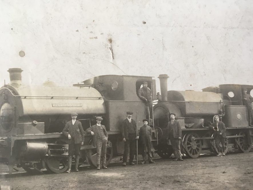 Exhall, nr Coventry. Engine, 'Enterprise'. c. 1915. | Image courtesy of Geoffrey Legh Jackson Dalzell-Payne