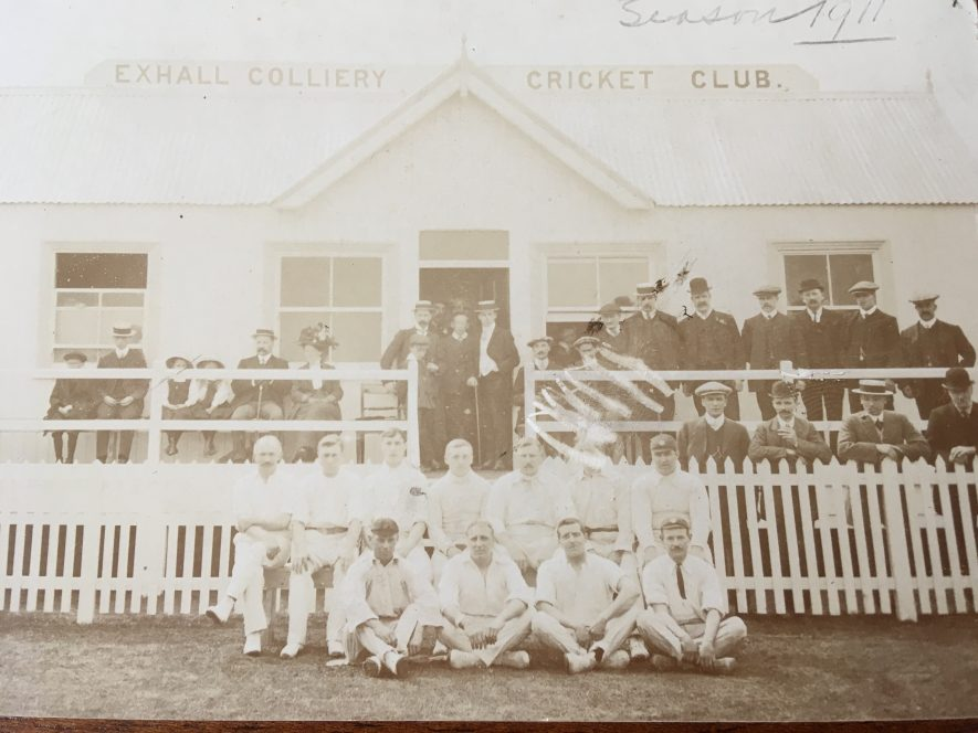 Exhall, nr Coventry. Colliery Cricket Club. 1911. | Image courtesy of Geoffrey Legh Jackson Dalzell-Payne