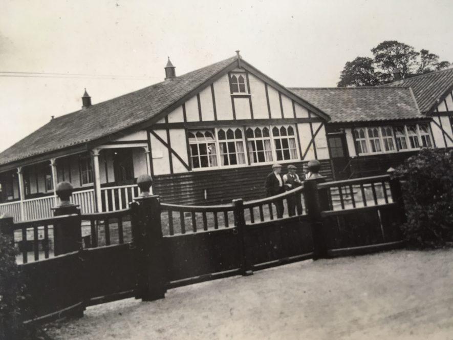 Exhall nr Coventry. Colliery social club, c. 1915. | Image courtesy of Geoffrey Legh Jackson Dalzell-Payne