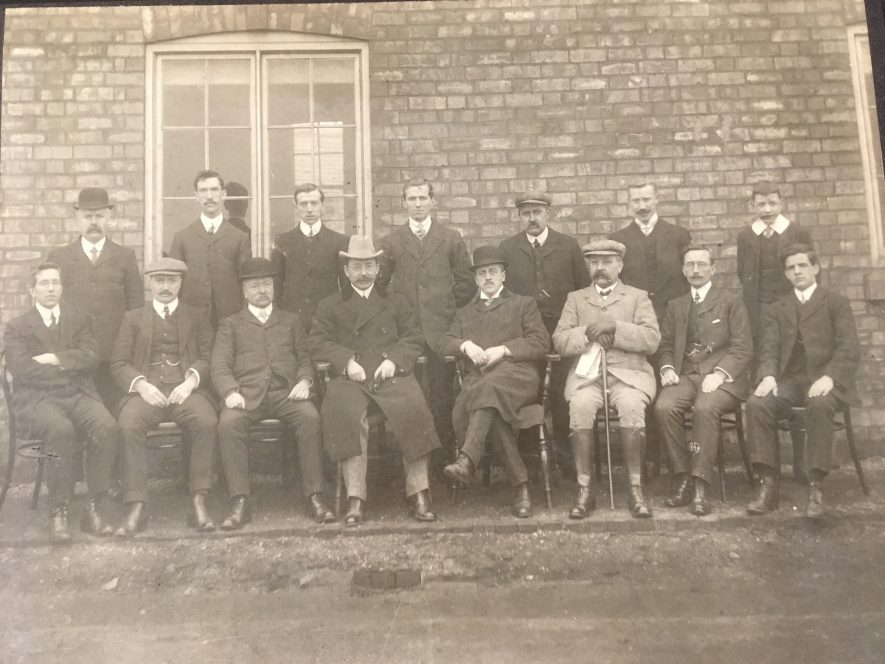 Exhall nr Coventry. Colliery directors. Mr. Jackson, the mine manager, is front centre with legs crossed. c. 1915 | Image courtesy of Geoffrey Legh Jackson Dalzell-Payne