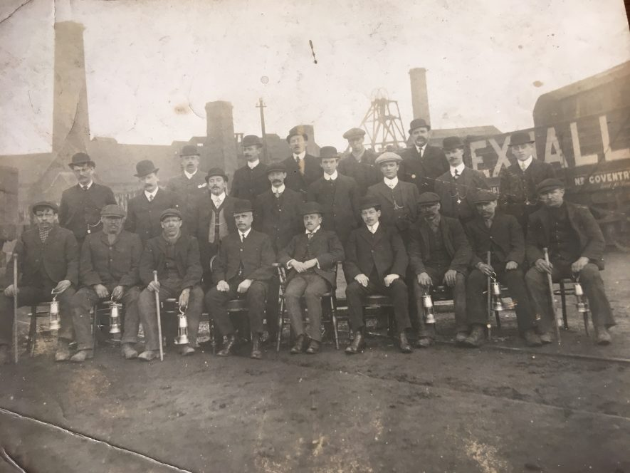 Exhall, nr Coventry. Colliery mine managers, c. 1915. | Image courtesy of Geoffrey Legh Jackson Dalzell-Payne