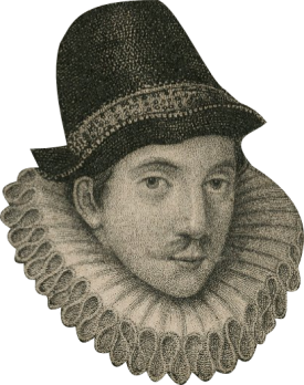 Engraved portrait of Sir Fulke Greville made in 1652.