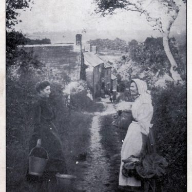Brailes, Upper. Miss Amy Spicer and Mrs Alice Bloxham (nee Hall)