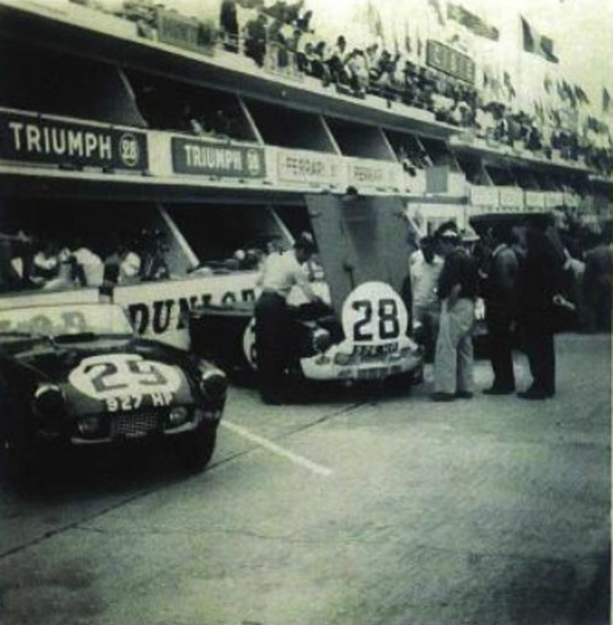 Triumph at Le Mans. | Image courtesy of Dave Gleed / The TR Register