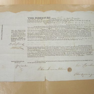 Apprenticeship Indenture From the Parish of Binton