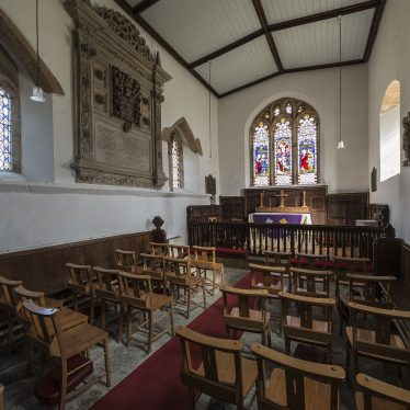 Interior of Church of St Peter, Wormleighton, 2017. | Image courtesy of Simon Harding