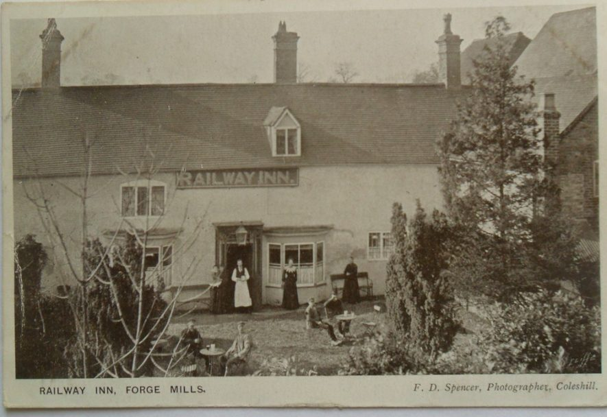 Railway Inn, Forge Mills, Coleshill. | Postcard F D Spencer, supplied by Rosie Mayer