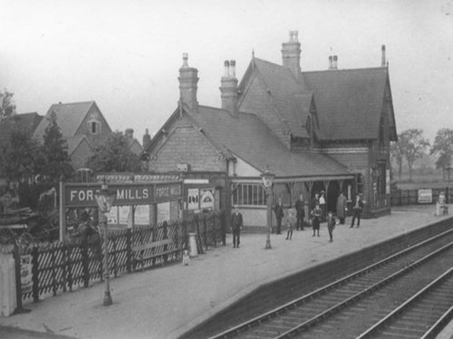 Forge Mills Station, Coleshill. | Image courtesy of the Rosie Mayer Collection