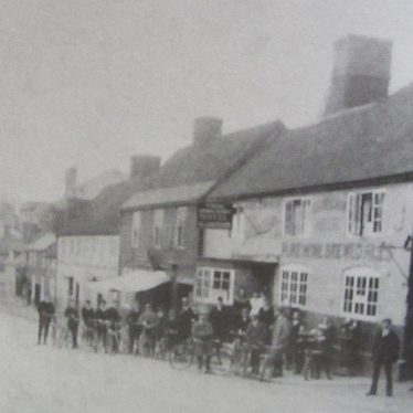 Coleshill. Three Horseshoes Public House, High Street. Cycle Meet.