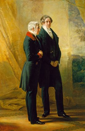 Arthur Wellesley, 1st Duke of Wellington, with Sir Robert Peel, 1844. | Franz Xaver Winterhalter (1805-73). Image courtesy Royal Collection Trust / © Her Majesty Queen Elizabeth II 2017