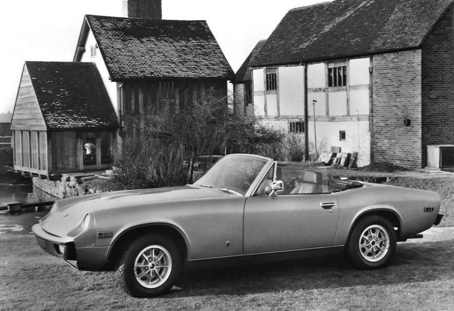 Jensen-Healey 1972 publicity shot. | Warwickshire County Record Office reference CR4804/3/28