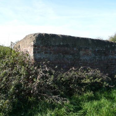 A surviving pillbox at Bramcote Airfield, 2017. | Image courtesy of William Arnold