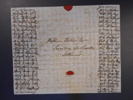 Anna's letter to her brother was written using cross-hatching to save on paper. | Warwickshire County Record Office, CR341/327/92