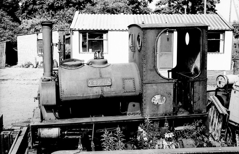 The Peckett 0-6-0ST narrow gauge locomotive 'Mesozoic', which formerly worked at Southam Cement works. | Image courtesy of the Tony Newman collection
