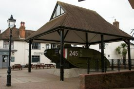 Ashford's Tank.Dating from 1917, and presented to the people of Ashford on 1st August 1919. | cc-by-sa/2.0 - © Peter Trimming - geograph.org.uk/p/3376414